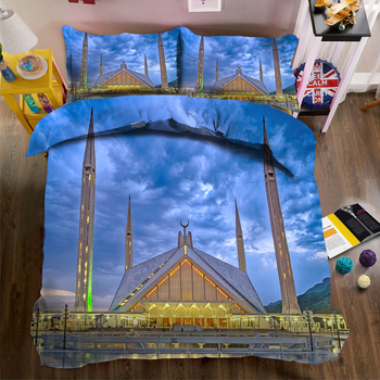 Masjid print Bedding Duvet Cover set World Architecture Pattern Soft Fabric Bed Comforter sets Quilt Cover Pillowcase 3pcs Home