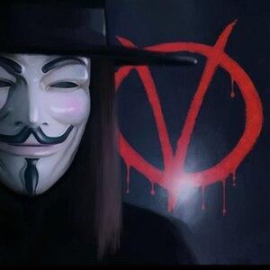 Image 2 - Anoniem Maskers Kostuums Vendetta Gezicht Fancy Party Cosplay Stijl Goud Volwassen Fawkes Levert Zilver Geel Guy Wit Halloween