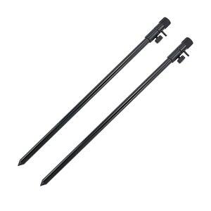 Image 5 - Hirisi new carp fishing rod pod set 2pcs fishing bank sticks with 1pcs fishing buzz bar black color