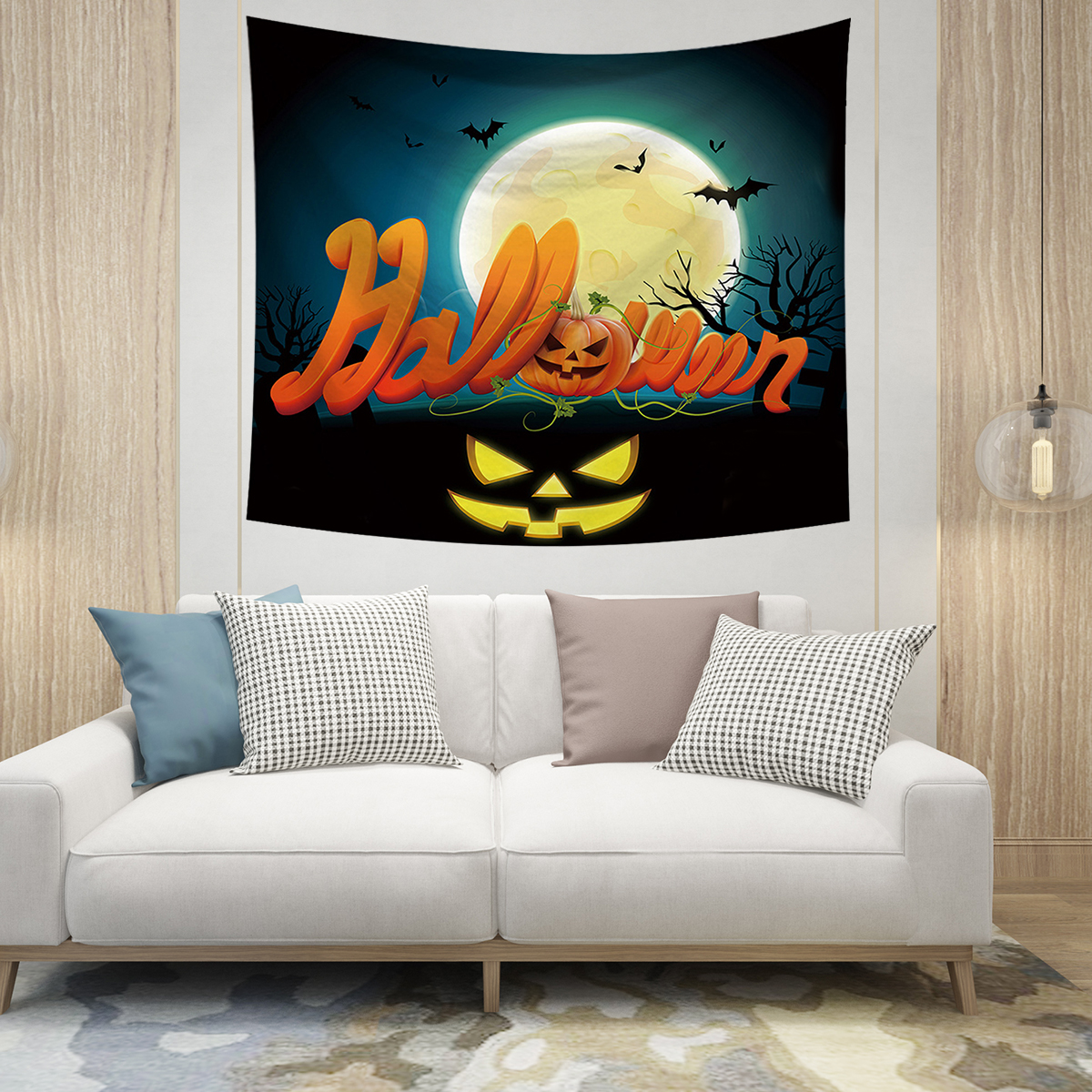 Wall Hanging Tapestry Halloween Wall Tapestry Home Decor Yoga Picnic Mat 150cm X 130cm Infant Photography Props