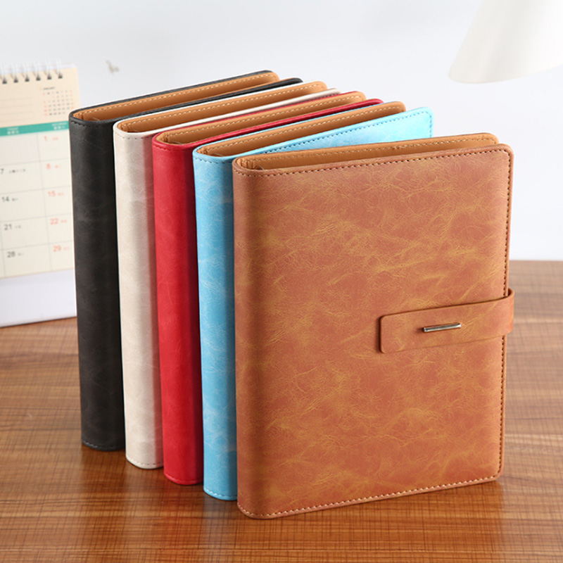 Business Loose-leaf Notebook Pu Creative Buckle Notebook A5 Detachable Leather Diary Book Cover Waterproof