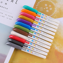 metal pen signature black color pencil card DIY album marker craft stationery colores drawing painting supplies back to school