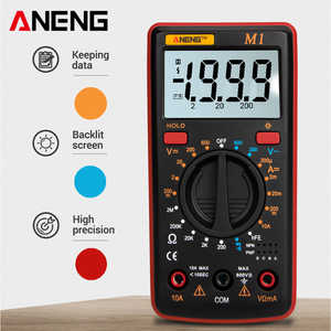ANENG M1 Digital Multimeter Esr Meter Multimetro Tester True Rms Digital Multimeter Testers Multi Meter Richmeters Dmm 400a 10A(China)