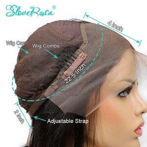 Image 5 - 130% dantel ön 13x4 yan kısmı kıvırcık dantel ön İnsan saç peruk siyah kadınlar için kısa Bob perulu remy saç ön koparıp Rosa