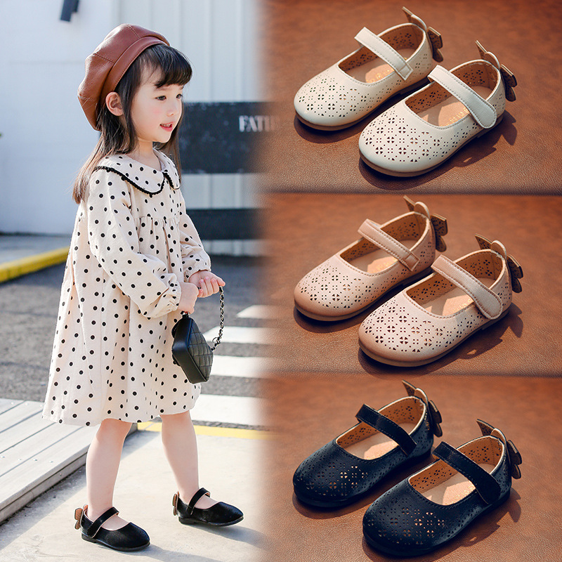 Baby Girl Sandals Cut-outs Toddler Shoes For Girls 2020 New Arrival Children Crib Sandals With Butterfly Flat Sandales D02172