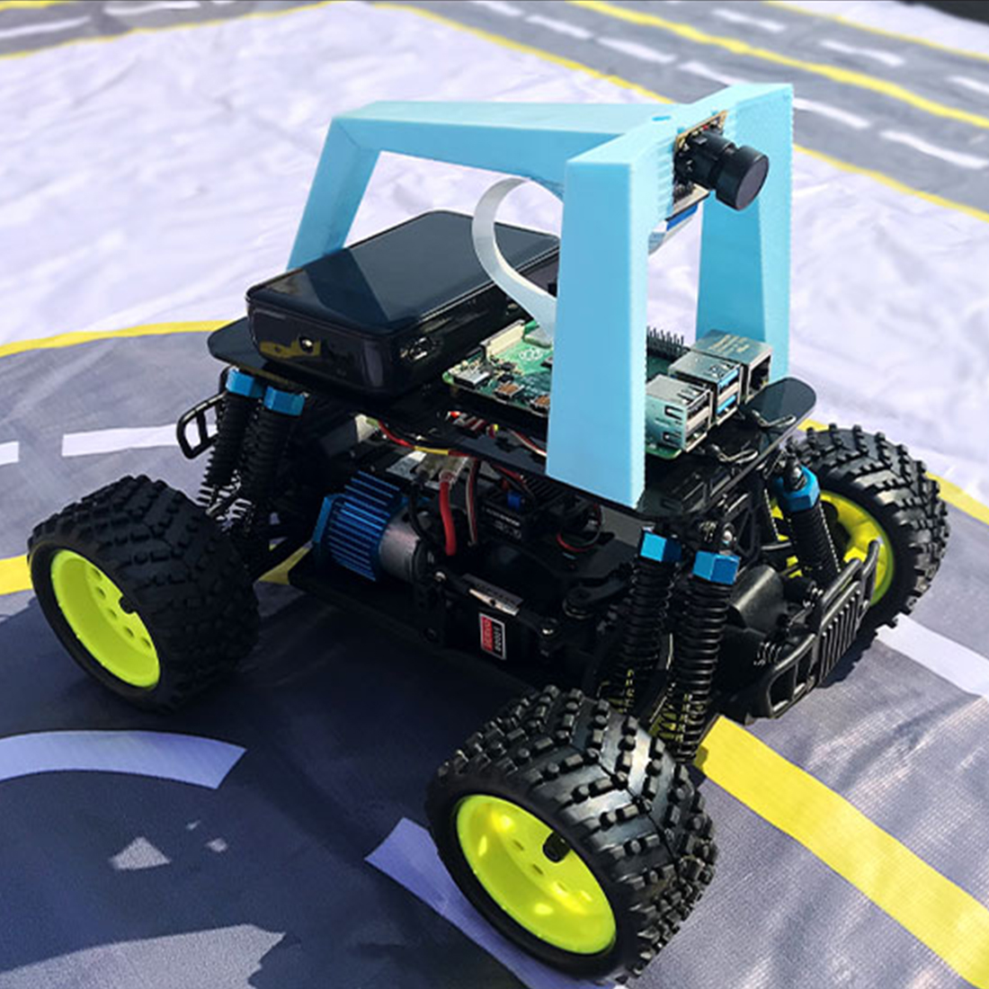 DIY Artificial Intelligence Car Programmable Autopilot Donkey Robot Car With Racing Track For Raspberry Pi4 Development Board
