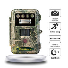 hunting cameras 36MP 1080P Bolyguard white flash LED trail cameras color pic and video