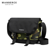 MANBERCE 2019 NEW Single Shoulder Oblique Bag Male Student Sports Tide Dead Fly Package Leisure Simple Postman Free Shipping