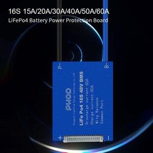 Image 2 - Умная плата системы управления аккумулятором LiFePo4 3,2 в 16S 48 в BMS с балансировкой для аккумуляторного блока скутера не 15S 48 В
