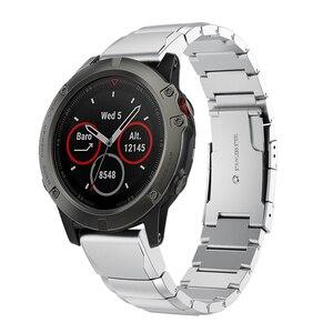 Image 2 - 26 22 20MM Watchband Strap for Garmin Fenix 5X 5 5S 3 3HR D2 S60 GPS Watch Quick ReleaseStainless steel strip Wrist Band Strap