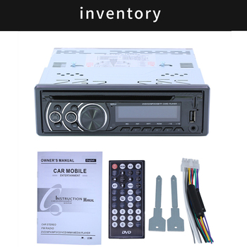 Universal Car Mutimidea DVD/VCD/CD Video Player Stereo Autoradio Support phone charging USB AUX TF SD image
