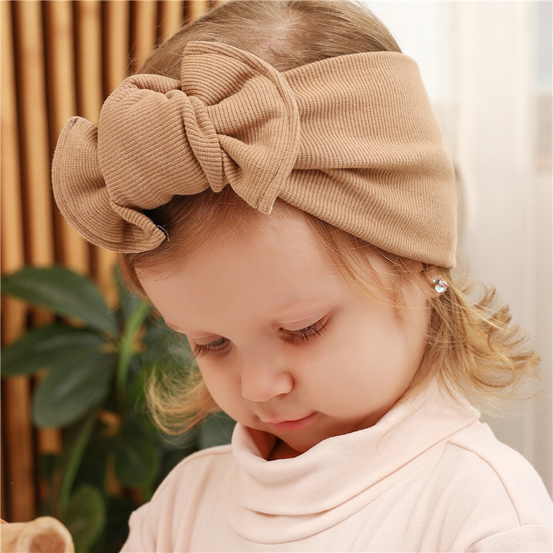 Baby Headband Baby Girl Hair Accessories Newborn Baby Turban Infant Toddler Head Wrap Bow Head Wrap Kids Gifts