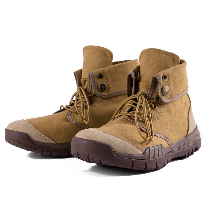 Spring Martin Boots Worker Boots Canvas Boots Men's England Fashion Hiking Shoes Fold Casual Foldable High Low-top Shoes