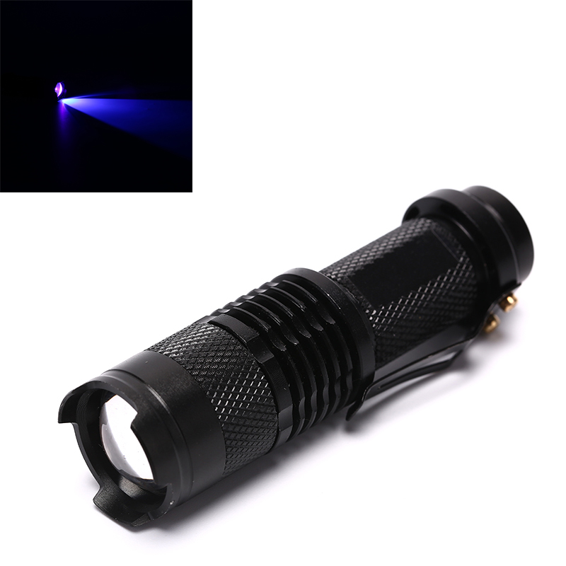 UV Ultra LED Flashlight Blacklight Light Inspection Lamp Torch Flashlight Lamp AA Battery 395/365nM