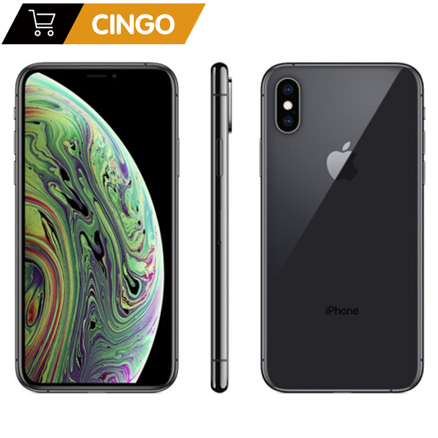 Original Unlocked Apple iphone XS iphone XS MAX 4G LTE 4G RAM 64gb/256gb ROM A12 Bionic Chip IOS12 IPHONE XS 2658mAh
