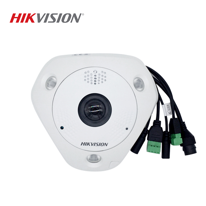 HIKVISION DS-2CD63C5F-IHVS Replace DS-2CD63C2F-IVS Waterproof 12MP Fisheye IP Camera Bulit-in Microphone Speaker H.265 PoE