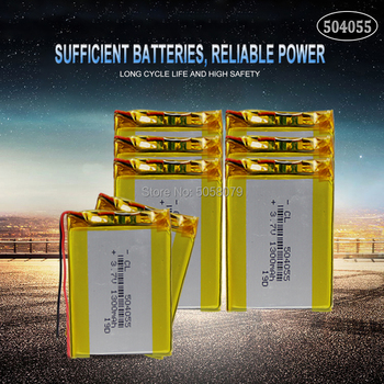 20pcs 504055 3.7V 1200mAh Rechargeable Li-Polymer Li-ion Battery For mp3 mp4 mp5 phone DVR GPS power bank IPTV