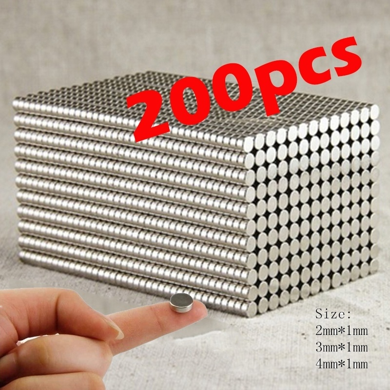 200pcs/400pcs Super Strong Neodymium Magnets Rare Earth Permanent Magnet N35 Disc Fridge Craft(These Are Small Magnets!!!)