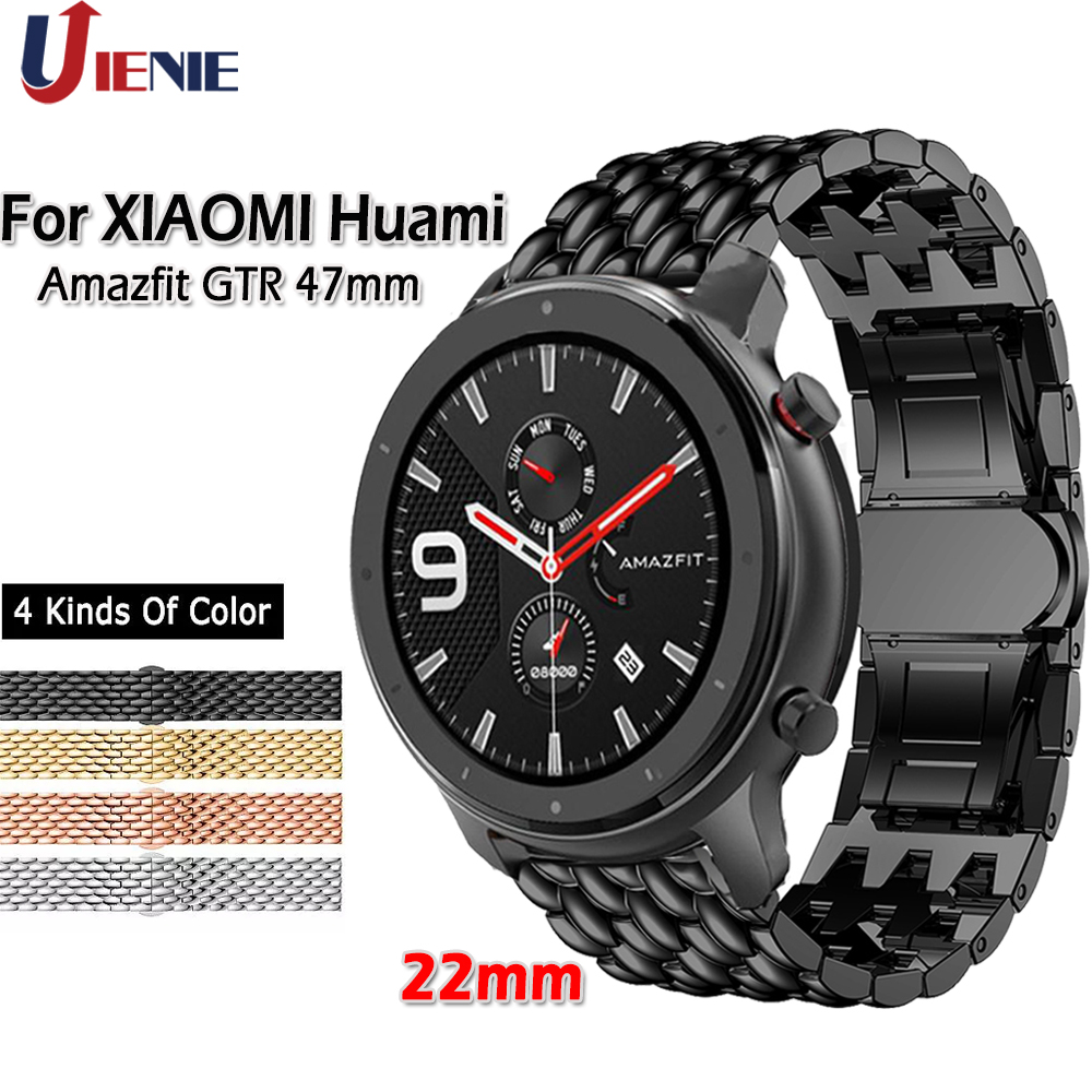 Strap For Xiaomi Huami Amazfit GTR 47mm Stainless Steel Band For Samsung Galaxy 46mm Gear S3 Watchband Replacement Band Correa