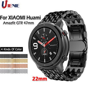 Band Strap Amazfit Gtr 47mm Stainless-Steel Huami Xiaomi Samsung Replacement-Band 46mm-Gear