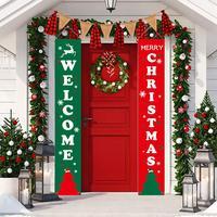 Merry Christmas Hanging Door Banners