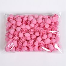 1/20/50 Pieces Teddy bear of roses 3cm Foam wedding decorative flowers christmas decor for home diy gifts artificial flowers(China)
