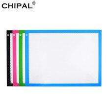 CHIPAL A3 scala LED tavoletta da disegno arte pittura scrittura grafica compresse copia tavola Artcraft tracciamento LED Light Box schizzo Pad