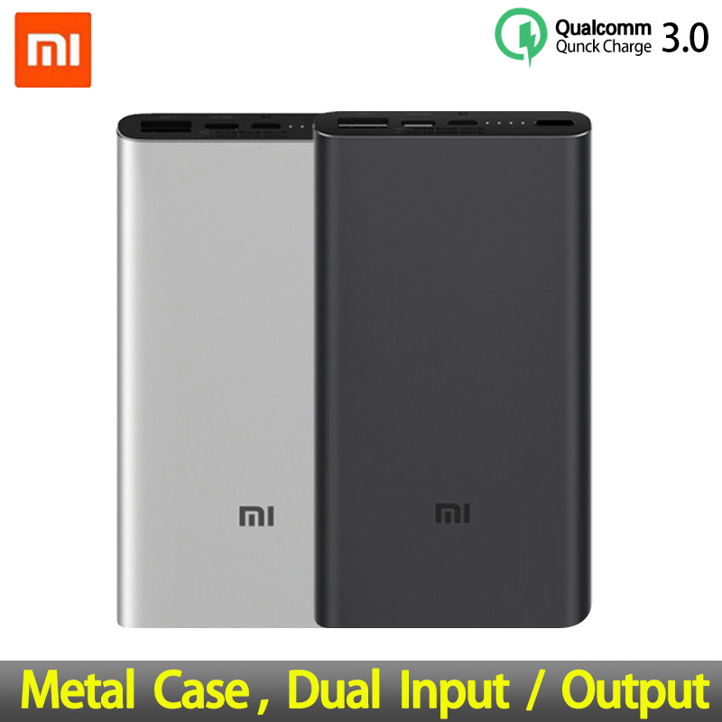 <font><b>Xiaomi</b></font> Mi <font><b>3</b></font> Pro <font><b>10000mAh</b></font> <font><b>Power</b></font> <font><b>Bank</b></font> Two-way Quick Charge USB-C Dual Input Output PLM12ZM 10000 mAh Powerbank for Mobile Phone image