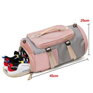 Image 4 - 女性のジムバッグバックパックフィットネス袋屋外ショルダーバッグ Gymtas Tas 嚢デスポーツ Mochila 2020 学生 Sportbag XA891WA