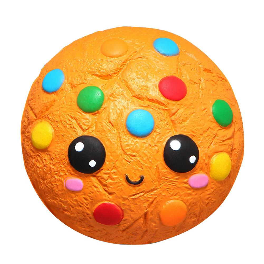 Cartoon Squishys Chocolate Cookie Scented Slow Rising Kids Stress Relief Toys Stress Relief Soft Squeeze Toys Fun For Child Toy