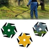 6 Blades Trimmer Head Cemented Carbide Lawn Mower Grass Weed Eater Brush Cutter Garden Lawn Machine Accessories Power Tool