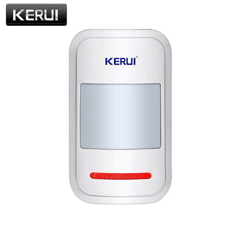 KERUI Sensor de movimiento PIR inalámbrico inteligente Detector de alarma para GSM PSTN sistema de alarma antirrobo para el hogar antena incorporada