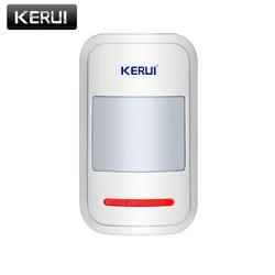 Kerui sem fio inteligente pir sensor de movimento detector de alarme para gsm pstn casa sistema de alarme segurança interna antena