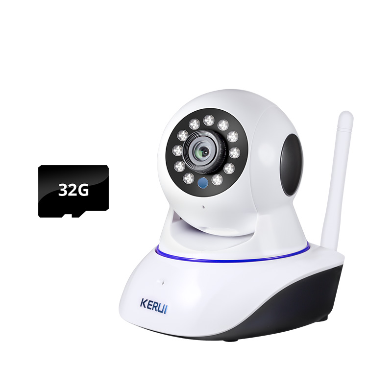 KERUI 720P 1.0MP Mini Indoor Wireless Tuya WiFi IP Camera Home Security CCTV Surveillance Camera With 32GB Memory Card|Surveillance Cameras| - AliExpress