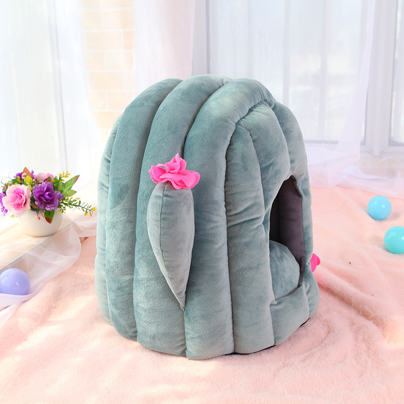 Pet Dog Bed Kennel Puppy Bed Doghouse Pet Warm Bed For Small Puppy Dogs Mat Washable Dog Bed Winter Warm Houses For Puppy Dog 1