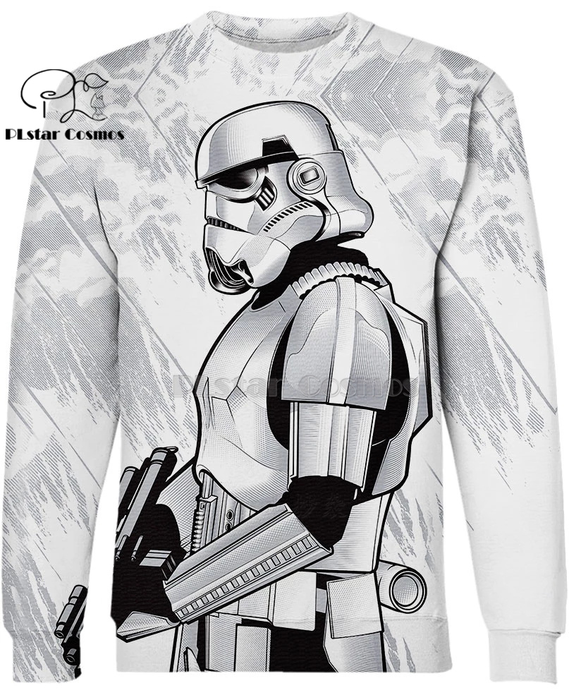 PLstar Cosmos Star Wars Shoretrooper 3d hoodies shirt Sweatshirt Winter long sleeve Pullover Fashion Harajuku streetwear in Hoodies amp Sweatshirts from Women 39 s Clothing