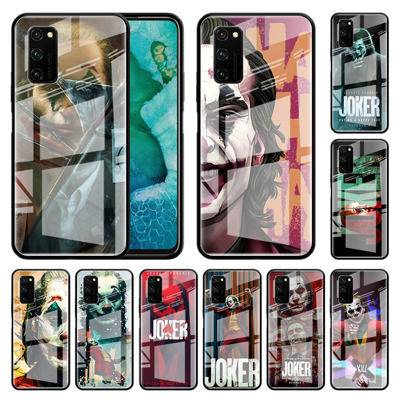 2019 Horror Movie Joker Glass Case For Huawei Honor 30S 20 8X 9X Pro 10 Lite Y7 Y6 Y9 Prime 2019 View 30 Play 9A Phone Capas