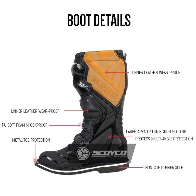 SCOYCO Moto rcycle Wasserdichte stiefel moto schuhe bota moto kreuz nicht-slip drop widerstand racing boot professionelle moto rboats