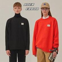 Adererror Sweaters Men Women Patch Ader Error Front Ader Embroidered Logo Sweatshirts