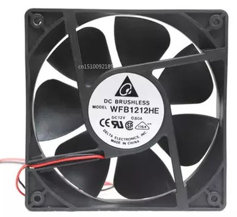 FOR WFB1212HE 12V 0.6A 12038 12 Double Ball Bearing Fan 2 -wire Interface For 120*120*38mm Free Shipping