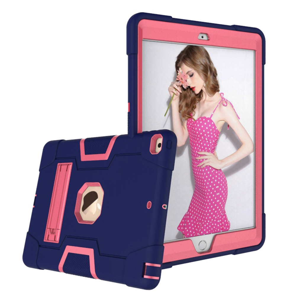 Navy Blue - Rose Red Purple For iPad 10 2 2019 7th Gen A2197 A2198 A2200 A2232 Case Shockproof Kids Safe PC