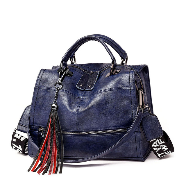 Vintage Tassel Soft Leather Handbags  4