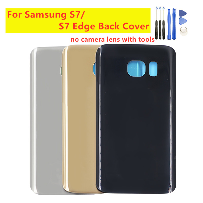 Back Cover Rear Door For Samsung Galaxy S7 Edge G935F Back Glass Housing Rear Battery Cover For Samsung S7 G930 Battery Cover image