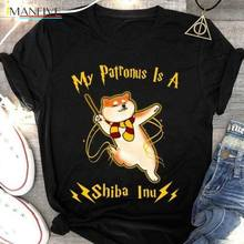 Hot Sell 2019 Fashion My Patronus Is A Shiba Inu T Shirt Men Cotton Fast Shipping