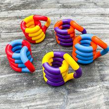 Anti stress brinquedos fidget tangele twist stress brinquedo adulto descompressão criança deformação corda emaranhado para ansiedade estresse