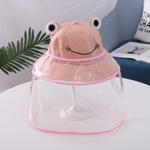 Boys Girls Bucket Hat Cartoon Baby Kids Caps Protective Face Shield Cover Mask Hats Anti Saliva Dustproof Fisherman Cap Sun Hat 4