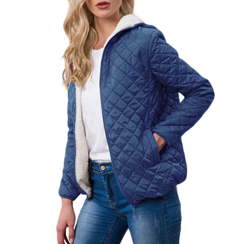 Spring 2020 Jacket Womens Sports Outwear Coats Velvet Lamb Hooded New Parkas Basic Jackets Female Women Spring Cotton Coats