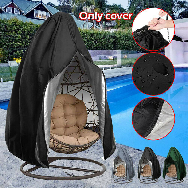 Waterproof Patio Chair Cover Egg Swing Chair Dust Cover Protector With Zipper Protective Case Outdoor Garden Patio Hanging Cover|Chair Cover|   - AliExpress