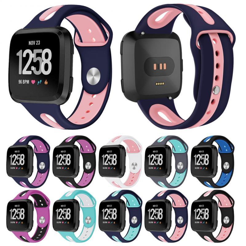 Новинка 2019 браслет ремешок для Fitbit Versa/ Versa Lite смарт-браслет для женщин и мужчин мягкий силиконовый ремешок застежка для Fitbit Versa 2 часы
