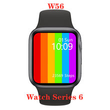 Montre connectée IWO W56 série 6, bracelet électronique, 44MM, 1.75 pouces, appels Bluetooth, ECG, fréquence cardiaque, IWO 12 P